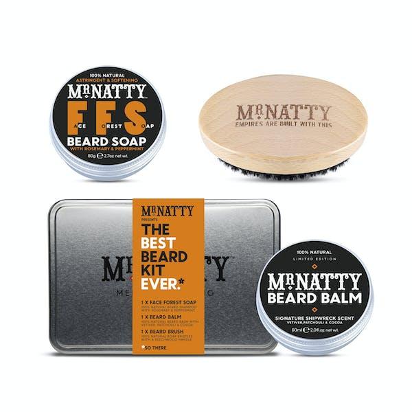 Mr Natty The Best Beard Tin Ever Grooming Gift Set