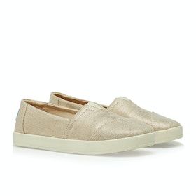 Toms Avalon Women's Slip On Trainers - Rose Gold Metallic