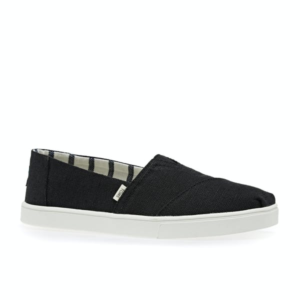 1dc3b615ba695 Toms Canvas Cupsole Women's Slip On Shoes - Black | Country Attire