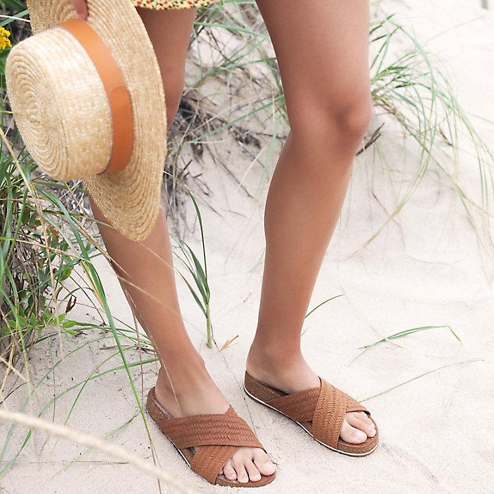 Timberland Malibu Waves Cross Slide Suede Summer Slip-On Womens Sandals