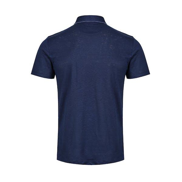 Hackett Linen Trim Poloshirt