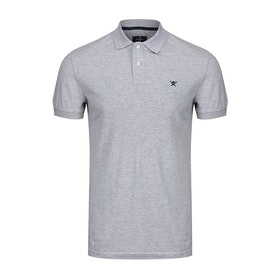 Hackett Slim Fit Logo Polo Shirt - Light Grey
