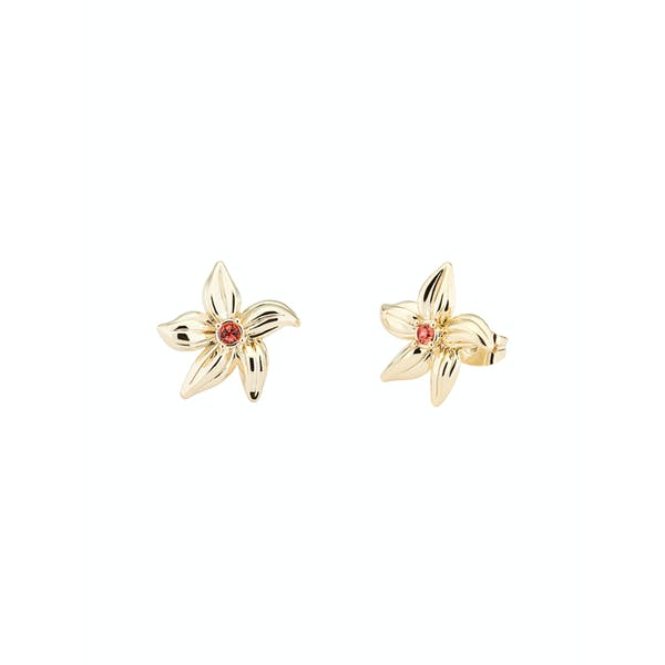 Karen Millen Palm Fringe Stud Earrings
