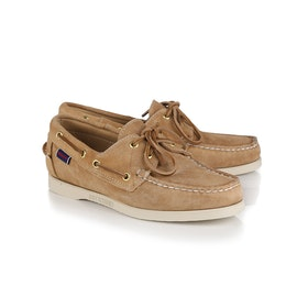 Dress Shoes Sebago Docksides Portland Suede W - Beige Camel