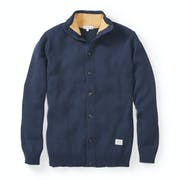 Peregrine Made In England Cotton Henley Cardigan