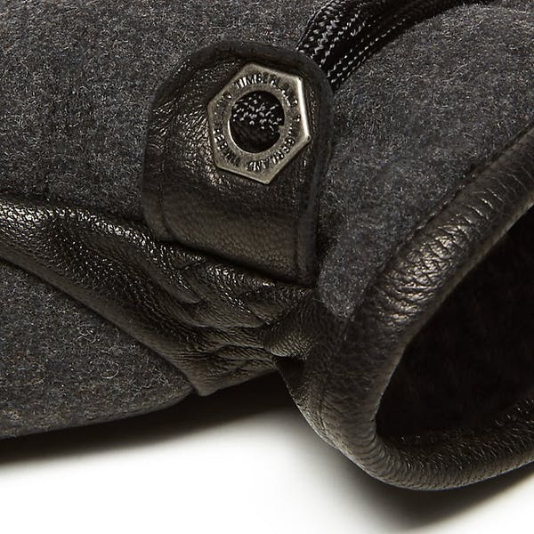 Timberland Quilted Wool Back Gl Charcoal Modehandsker
