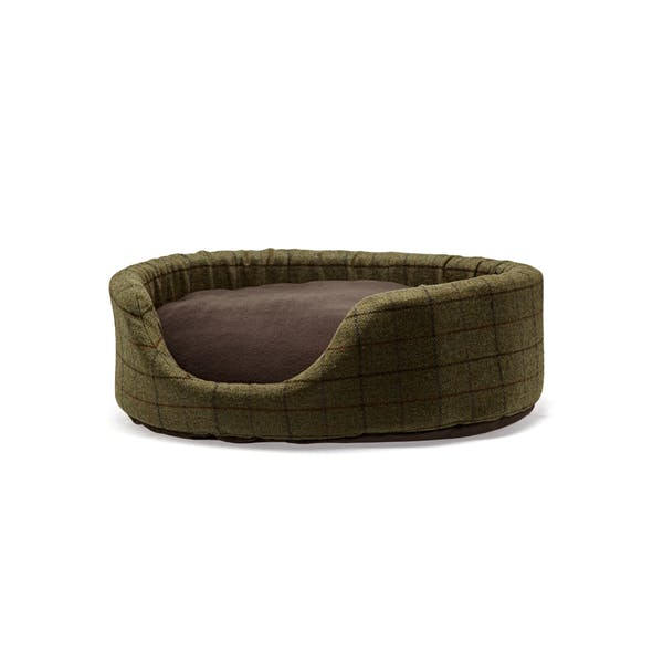 Oval Removable Fleece Cushion Dog Bed