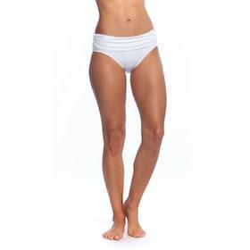 Lauren Ralph Lauren Bcs Wide Shirred Band Hipster Bikini Bottoms - White