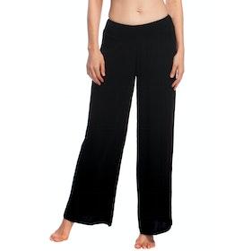 Lauren Ralph Lauren Crincle Rayon Smocked Women's Trousers - Black