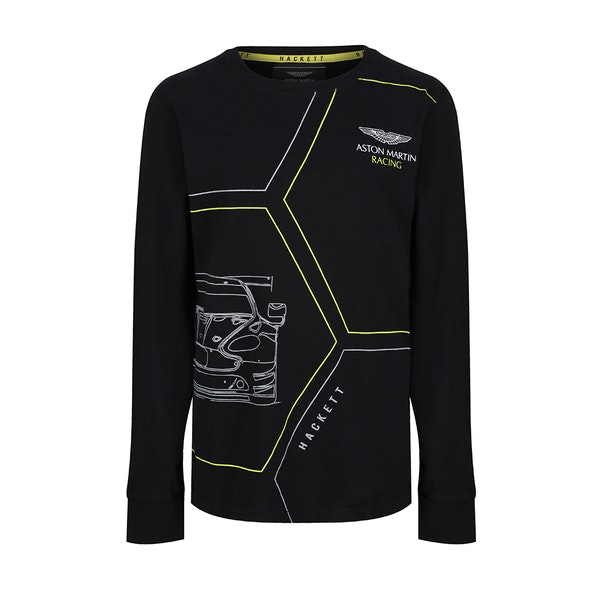 Hackett Aston Martin Racing Printed Boy's Long Sleeve T-Shirt