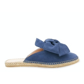 Espadrillas Donna Manebi Goat Suede Mules With Bow - Jeans