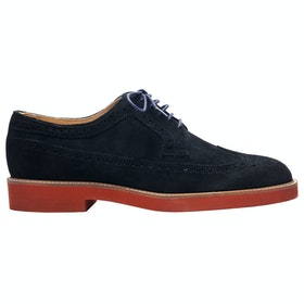 Sebago Princeton Slip On Trainers - Navy Red Blue