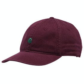 Carhartt Madison Logo Cap - Merlot / Dark Fir
