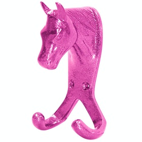 Gancio Perry Equestrian Double Horse Head Wall - Pink