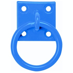 Perry Equestrian Galvanised Plattenring - Blue