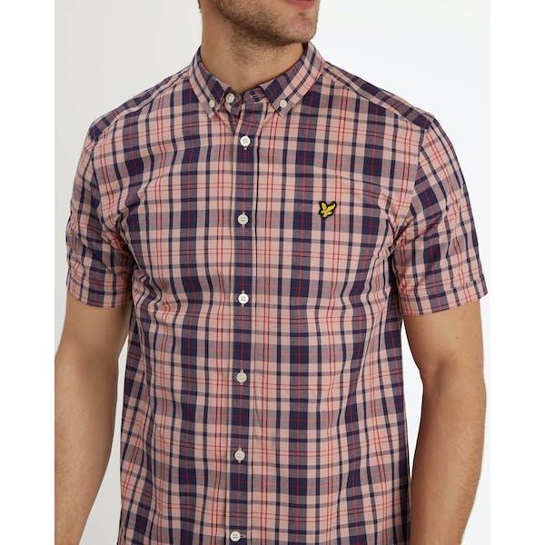 Lyle & Scott Check Kortærmet skjorte