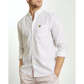 Lyle & Scott Cotton Linen Shirt - White