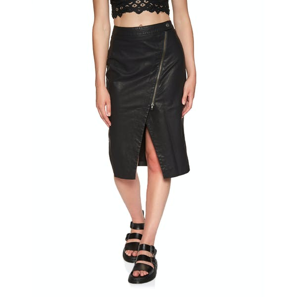 Free People Wrapped Up Vegan Midi Rok