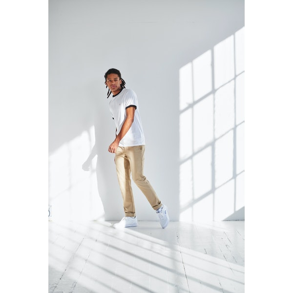 Farah Groves Ringer Slim Fit Mens Tričko s krátkým rukávem