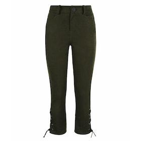 Troy London Moleskin Breeches Olive Women's Trousers - Forest Green