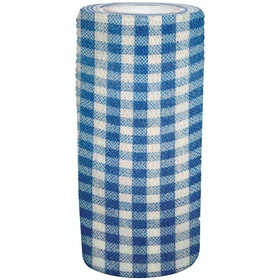 Perry Equestrian Cohesive Bandage - Blue Check