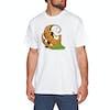 T-Shirt à Manche Courte Carhartt Orange - White