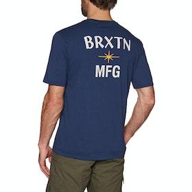 Brixton Luster Pocket Short Sleeve T-Shirt - Patriot Blue