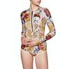 Combinaison de Plongée Femme Rip Curl G-Bomb 1mm Long Sleeve Hi Cut Shorty - Multicolour
