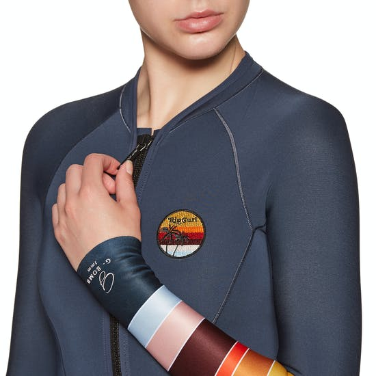 Muta subacquea Donna Rip Curl G-Bomb 1mm Long Sleeve Hi Cut Shorty