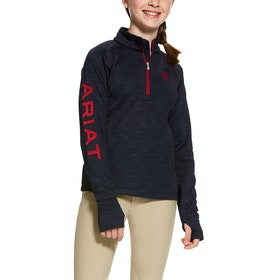 Ariat Tek Team Half Zip Girls Sweater - Team Navy