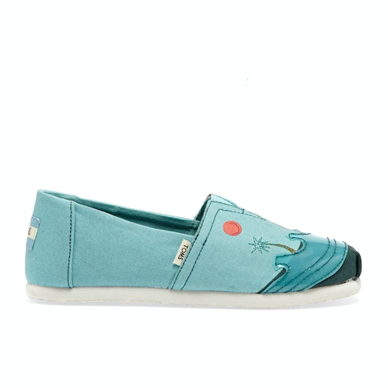 Toms Alpargata Surfdome UK Exclusive Kids Slip On Shoes