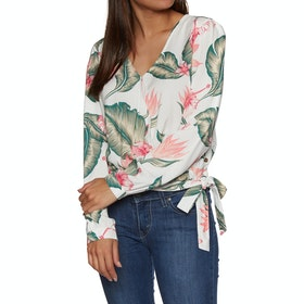 Roxy Empire State View Womens Top - Marshmallow Tropical
