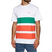 Diamond Supply Co Brilliant Patch Striped Short Sleeve T-Shirt