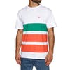 Diamond Supply Co Brilliant Patch Striped Short Sleeve T-Shirt - White