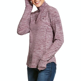 Sweat Femme Ariat Gridwork Half Zip Technical - Grape Wine