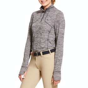 Ariat Gridwork Half Zip Technical Ladies Sweater - Nine Iron