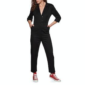 Volcom Frochic Boiler Suit Jumpsuit - Black