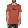 Quiksilver Comp Logo Short Sleeve T-Shirt - Burnt Brick