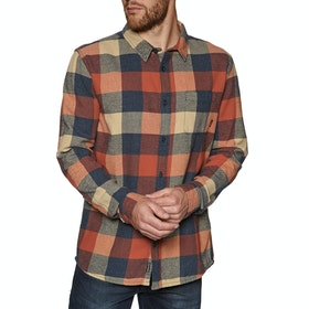 Quiksilver Motherfly Flannel Shirt - Burnt Brick Motherfly