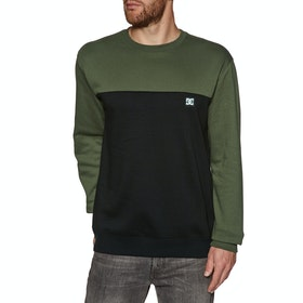 Sweat DC Rebel Crew Block - Fatigue Green Black