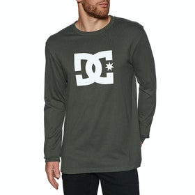 DC Star 2 Long Sleeve T-Shirt - Dark Olive White