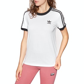 Adidas Originals 3 Stripe Womens Short Sleeve T-Shirt - White