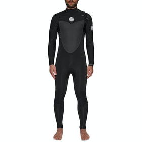 Rip Curl Flashbomb 4/3mm Chest Zip Wetsuit - Black