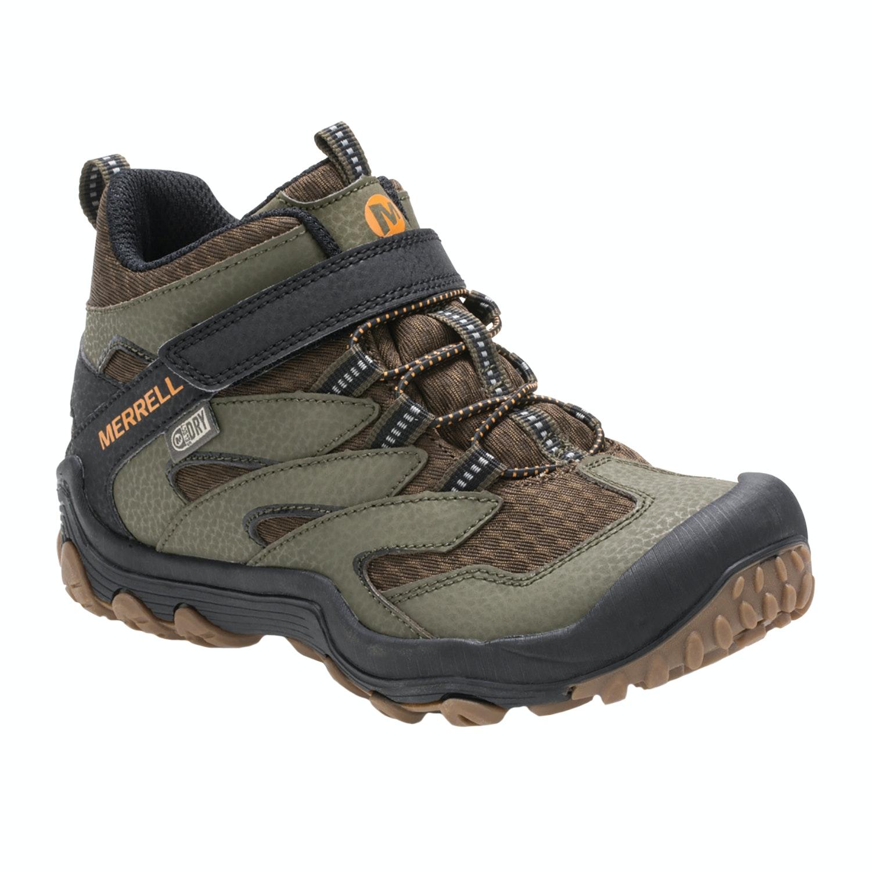 Dusty Olive Merrell M-chameleon 7 Mid A//c Wtrpf Kids Footwear Walking Shoes