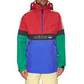 Adidas Snowboarding BB Snowbreaker Snow Jacket - Bold Green Power Red Blue carbon