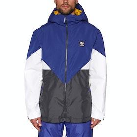 Adidas Snowboarding Premiere Riding Snow Jacket - Active Blue Carbon Cream White