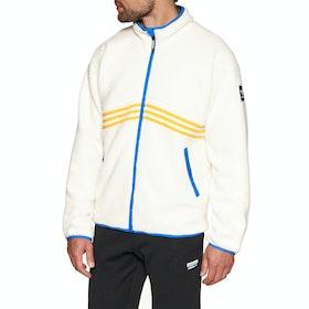 Polaire Adidas Snowboarding Sherpa Full Zip - Cream White Collegiate Orange Hi-res Blue Carbon