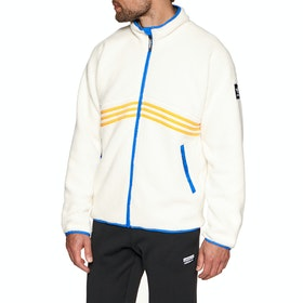 Adidas Snowboarding Sherpa Full Zip Fleece - Cream White Collegiate Orange Hi-res Blue Carbon