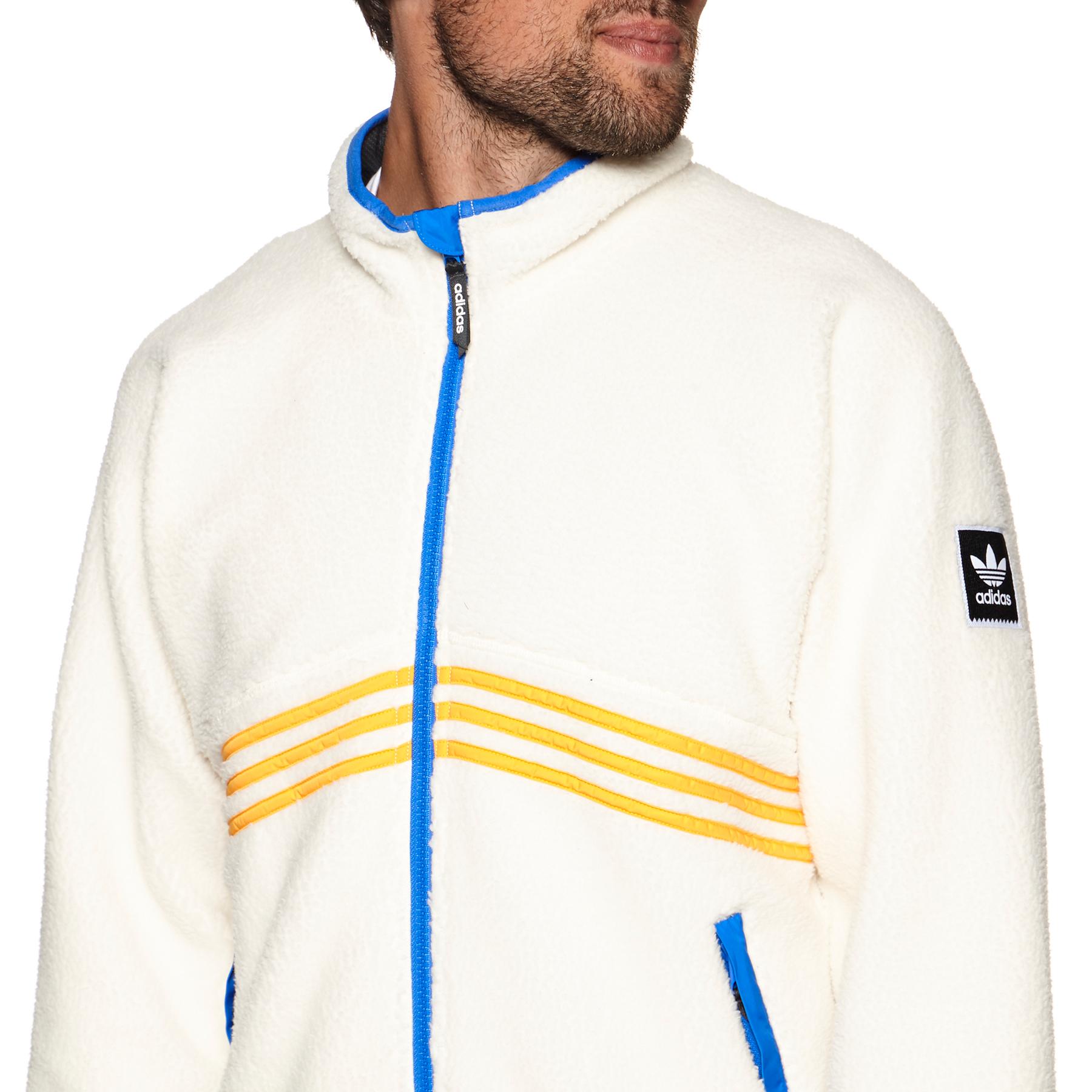 Adidas Sherpa Full Zip Jacket Cream White Collegiate