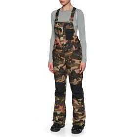 Volcom Swift Bib Overall Womens Snow Pant - Faded Army